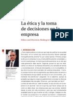 La Etica y La Toma de Decisiones en La Empresa
