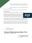 Korean Missionaries Under Fire