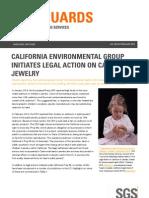 EN Emmanuel SGS SafeGuards 03210 California Environmental Group Initiates Legal Action