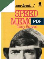 Speed Memory - Use Your Head by Tony Buzan