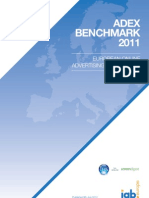 Adex Benchmark 2011 (Iab Europe) -JUL12