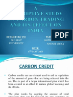 19844771 a Study on Carbon Credit PPT