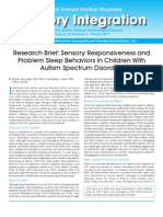 Research Brief_Sensory Responsiveness and Problem Sleep Behaviors in Children With Autism Spectrum Disorders