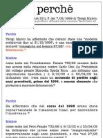 I perché nella relazione del curatore Terigi Marco-Lucca,Toscana