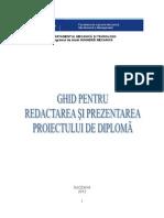 Ghid Proiect de Diploma LICENTA
