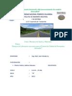 INFORME TECNICO DEL LABORATORIO DE SUELOS