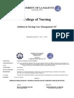 Syllabus in Nursing Care Management 107