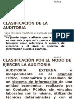 1. CLASIFICACIÓN DE LA AUDITORIA