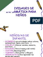 Actividades de Informatica Para Ninos