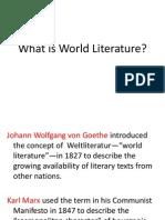 World Literature Lecture