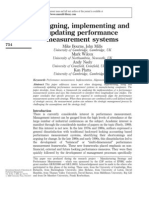 Designing, implementing andupdating performancemeasurement systems