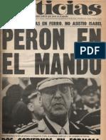 Diario Noticias - Argentina ´Año 1, No. 1, 21 de noviembre de 1973