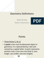 Geometry Definitions