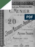 Munier 20 Studi Melodici e Progessivi Op 216