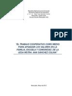 E. S. A. Mtra. Ana Sánchez Colina R-1