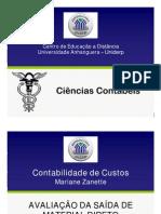 CCONT4 ContabilidadeCustos Aula9 SlidesCOR 23-04-12 MCE