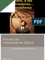 Proceso de Interpret. Bíblica