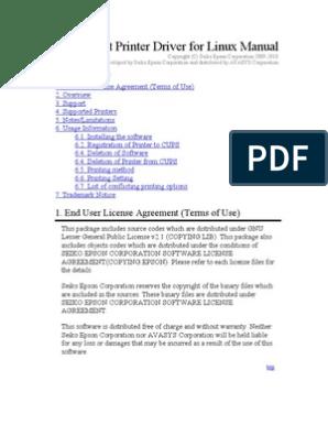 Driver linux epson l800
