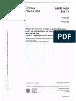 NBR 8451-4 POSTES DE CONCRETO ARMADO PARA REDE DE DISTRIBUIÇAO
