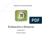 Evaluación a distancia