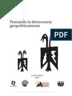 Luis Tapia Pensando La Democracia Geopoliticamente