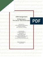 Case on HR planning- Elite Small Goods