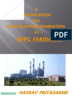 Presentation of Training in NTPC, Faridabad