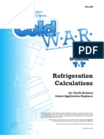 ColdWar May 2006 Refrigeration Calculations