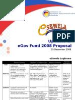 eSkwela - Presentation to eGov Fund TWG