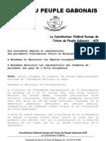 Gabon Lettre Aux Parlementaires