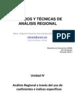 Métodos y Técnicas de Análisis Regional (Unidad IV)