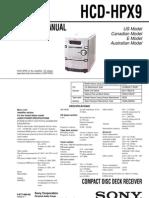 HCD-HPX9__SONY__Audio__Ver. 1.5__9-877-809-06