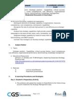 Strategic Management Lesson 3