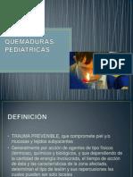 Quemaduras pediatricas