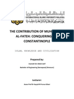 The Contribution of Sultan Muhammad Al-Fateh