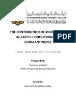 The Contribution of Sultan Muhammad Al-Fateh