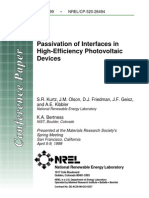 1999 NREL Passivation of Interfaces in High Efficiency PV