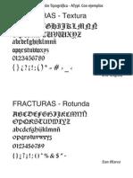 Clasificacion Tipografica ATypI - Ejemplos