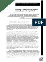 AG1 Discriminación y cuestiones de género la mujer, la paz y la seguridad