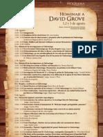Programa del coloquio a Grove 2012