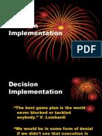 Session 11 Decision Implementation