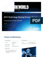 Network World Tech Buying Process Study 2012 (Excerpt)