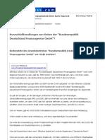 Kurzschlußhandlungen von Seiten der %22Bundesrepublik Deutschland Finanzagentur GmbH%22? - News4Press.com - 08.09.2011
