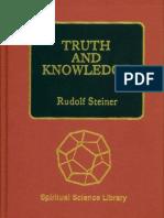 Rudolf Steiner - Truth and Knowledge