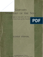 Rudolf Steiner - Goethe's Standard of the Soul