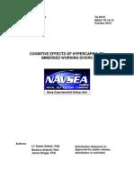 working divers NAVSEA report