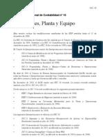 NIC 16 Propiedades Plantas y Equipo