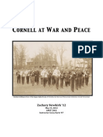 Cornell at War and Peace