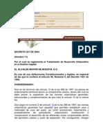 Decreto 327 de 2004 Tratamiento Desarrollo Urbanistico