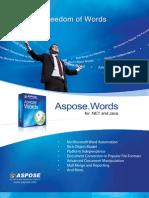 Aspose.Words Brochure